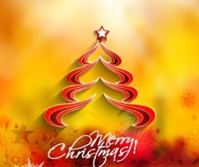 Creative christmas tree blurs background graphics vector 02