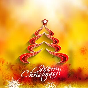 Creative christmas tree blurs background graphics vector 02