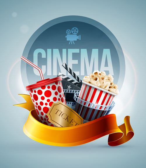 Creative Cinema Elements Backgrounds Vector Material 04