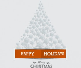 Creative design snowflake christmas tree vector background