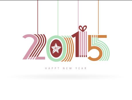 Cute 2015 Inscription design vector