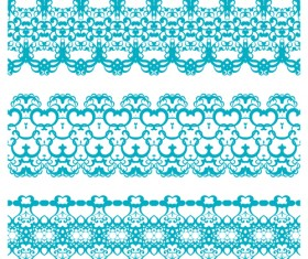 Decorative pattern retro seamless borders 02 vector set