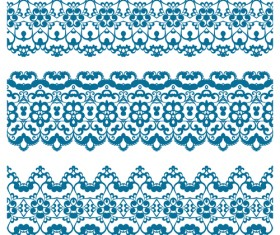 Decorative pattern retro seamless borders 04 vector set