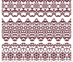 Decorative pattern retro seamless borders 05 vector set
