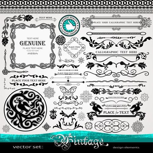 Decorative vintage border and frame vector 02