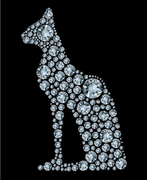 Diamonds dog vector material