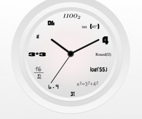 Digital clock psd material