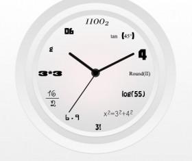 Digital clock psd material