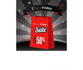 Discount black friday poster vector 05