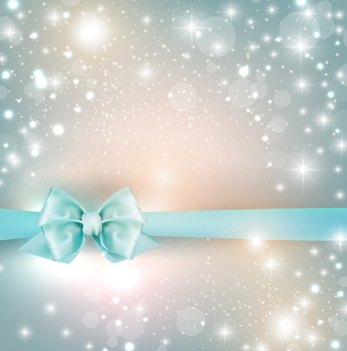 Elegant bow shiny background vector Vector Background free download