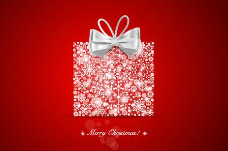 Elegant red background 2015 christmas creative vector 08