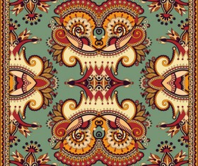 Ethnic decorative pattern floral vector 01