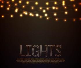 Festival hanging lights vector background art 03