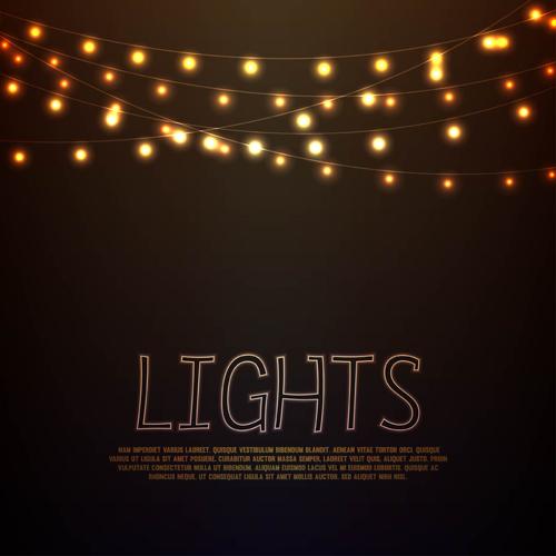 Festival Hanging Lights Vector Background Art 03 Free Download
