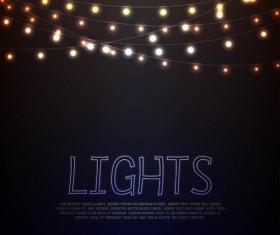 Festival hanging lights vector background art 04