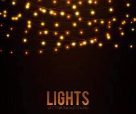Festival hanging lights vector background art 05