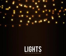 Festival hanging lights vector background art 06