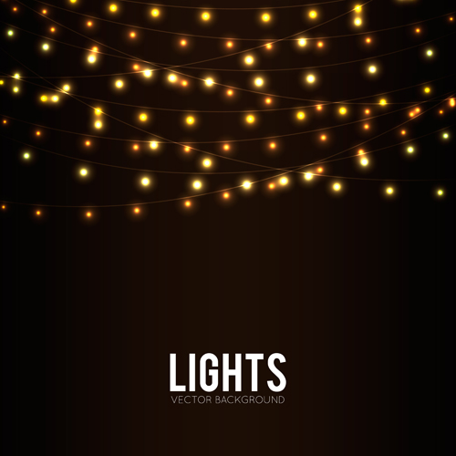 Festival Hanging Lights Vector Background Art 06 Vector