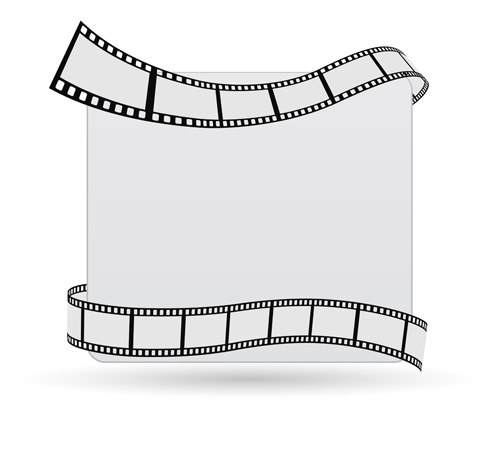 Film With Blank Background Vector Free Download