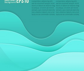 Flowing lines waves colored background vector 04