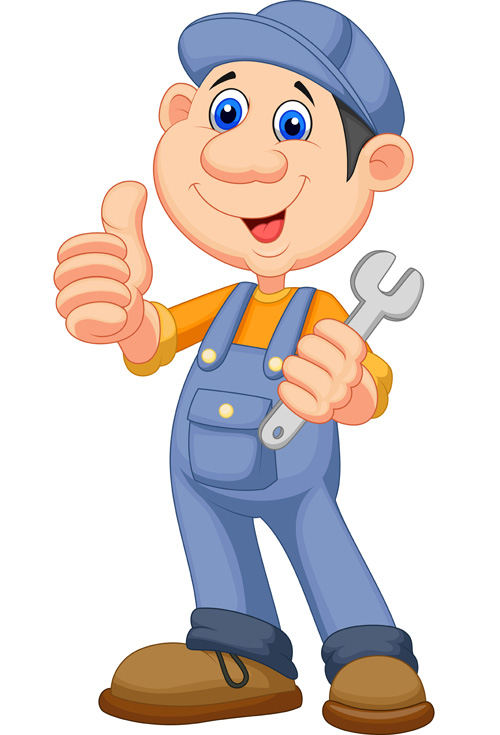 Funny Cartoon Builders Vector Illustration 24 Vector