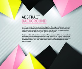 Geometric colored triangle vector background 03