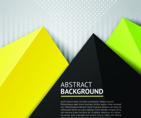 Geometric colored triangle vector background 04