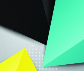 Geometric colored triangle vector background 05