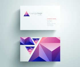 Geometric triangle business cards copy space vector 01