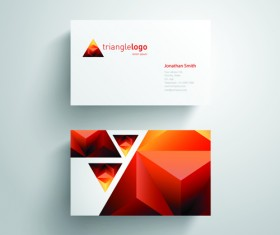 Geometric triangle business cards copy space vector 02