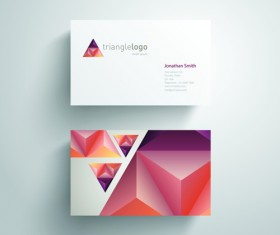 Geometric triangle business cards copy space vector 03