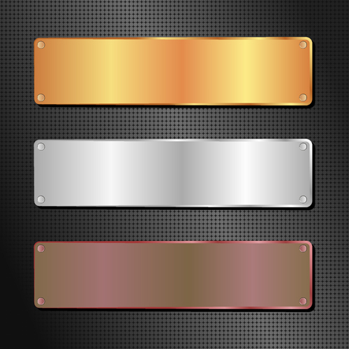 Glass textured vector banners material 01