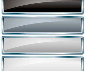 Glass textured vector banners material 03