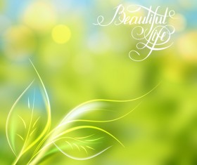 Green style blurred background vector 04