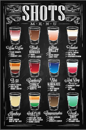 Hand Drawn Chalkboard Drinks Menu Vector 02 Vector Cover