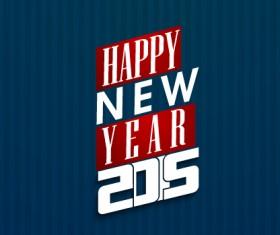 Happy new year 2015 dark blue background