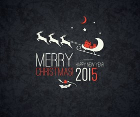 Merry christmas and 2015 new year dark background