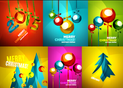 Merry christmas and wishes cards vector