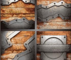 Metal art pattern vector background 01