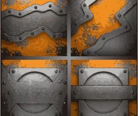 Metal art pattern vector background 02