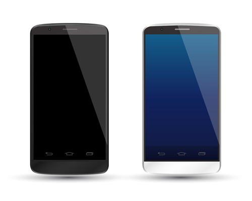 Modern phone template vector material