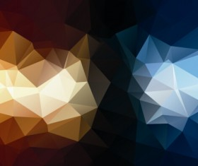 Mystic polygonal abstract background set 03