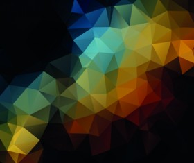 Mystic polygonal abstract background set 04