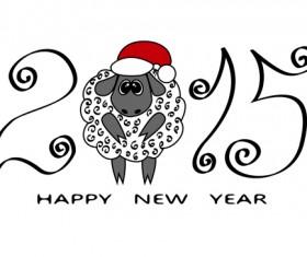 New year 2015 sheep background graphics