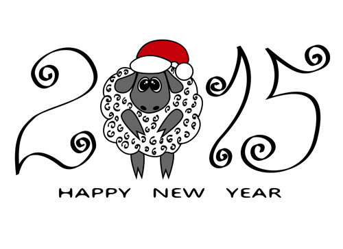 New year 2015 sheep background graphics