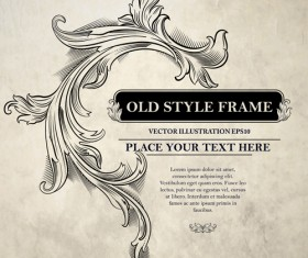 Old style frame ornament vector 01