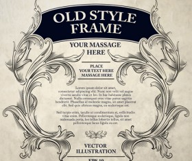 Old style frame ornament vector 02