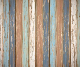 Old wooden board textured vector background 09
