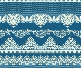 Ornate lace border design vector set 02