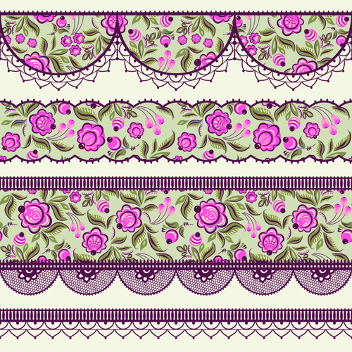 Image Gallery lace border designs